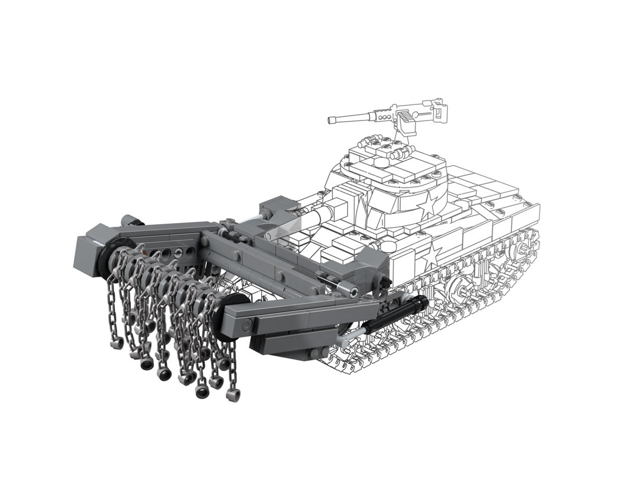M4 Sherman Crab - Mine Flail Pack for M4 Sherman (BKM2184)