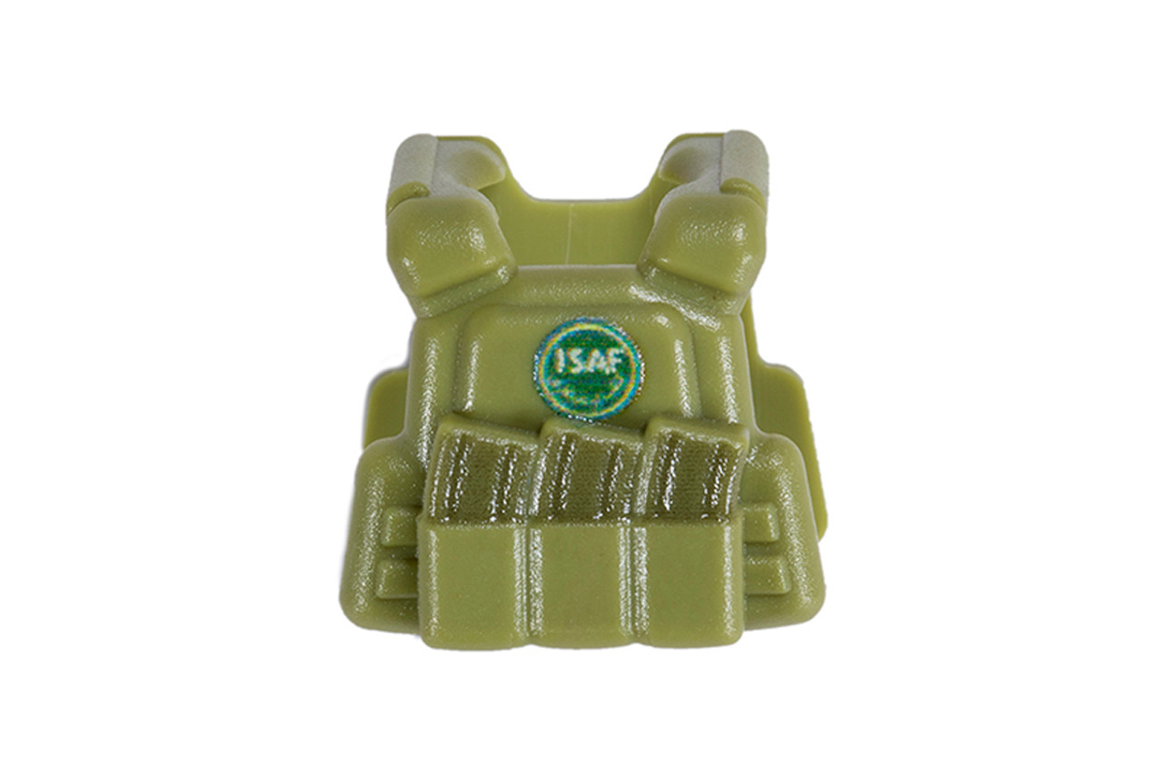BrickArms® Plate Carrier Vest - Olive Green with ISAF Roundel Patch