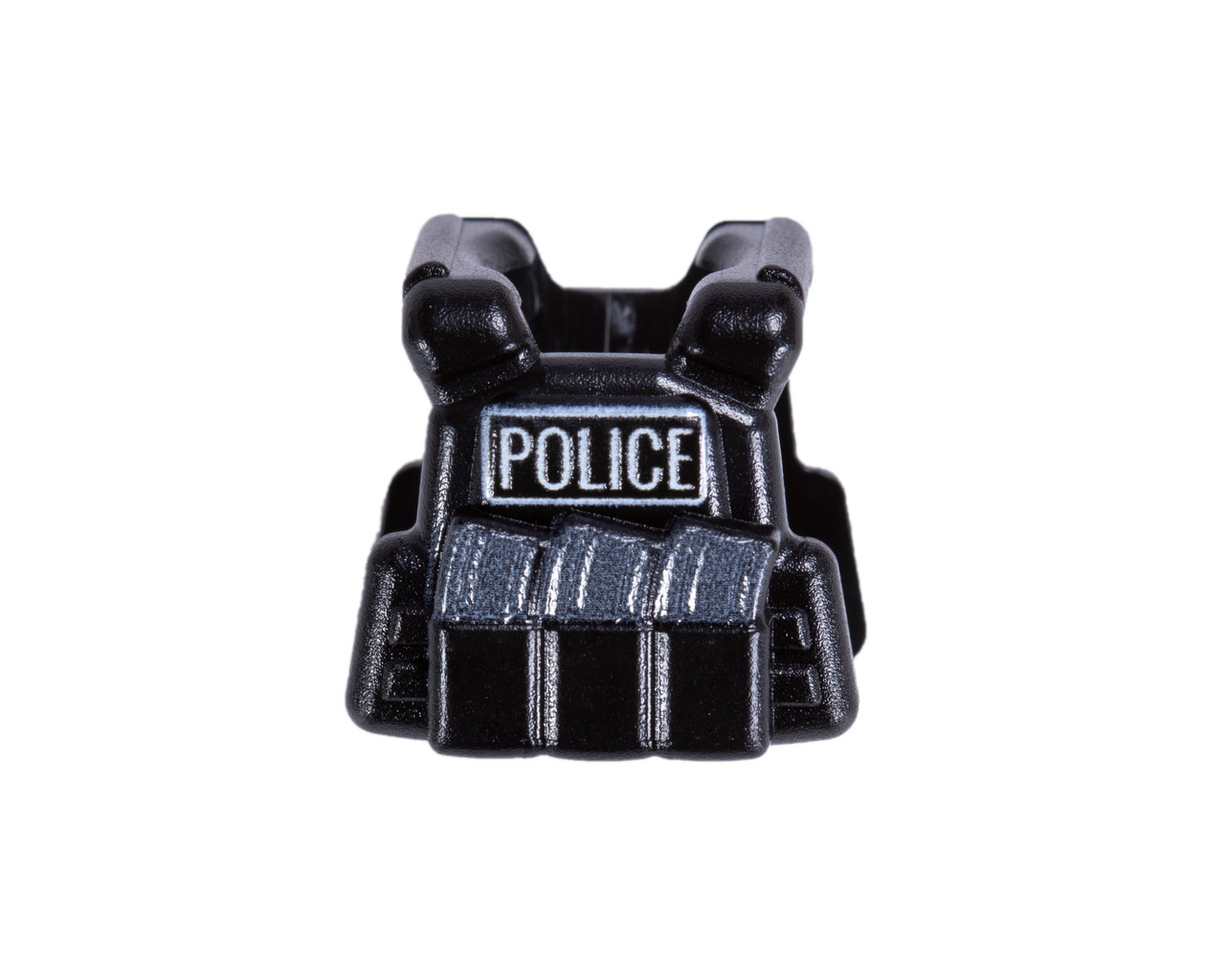 Plate Carrier Vest - Black with Printed Police Lettering