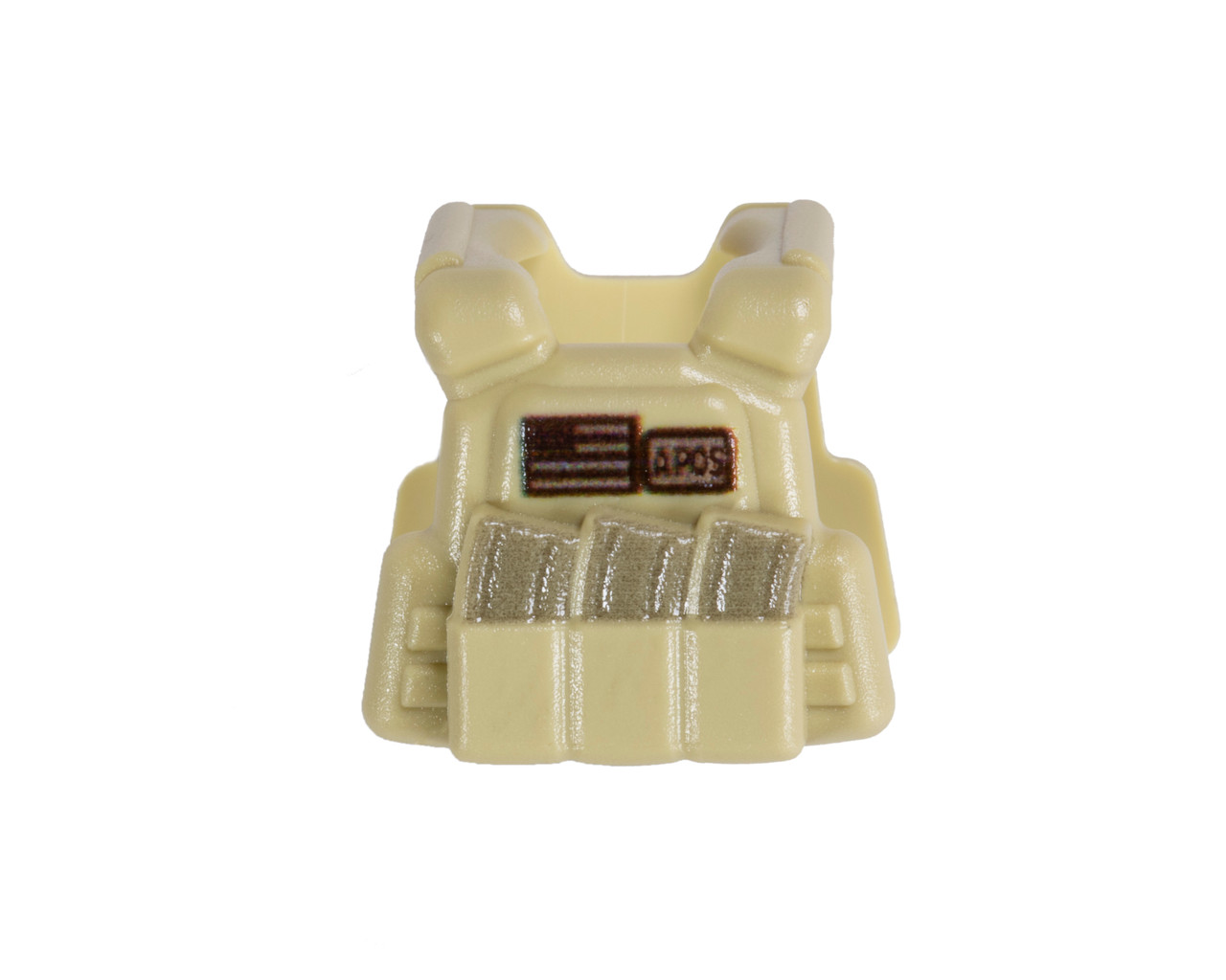 BrickArms® Plate Carrier Vest - Tan with Subdued US Flag and Blood Type Identifier Patch