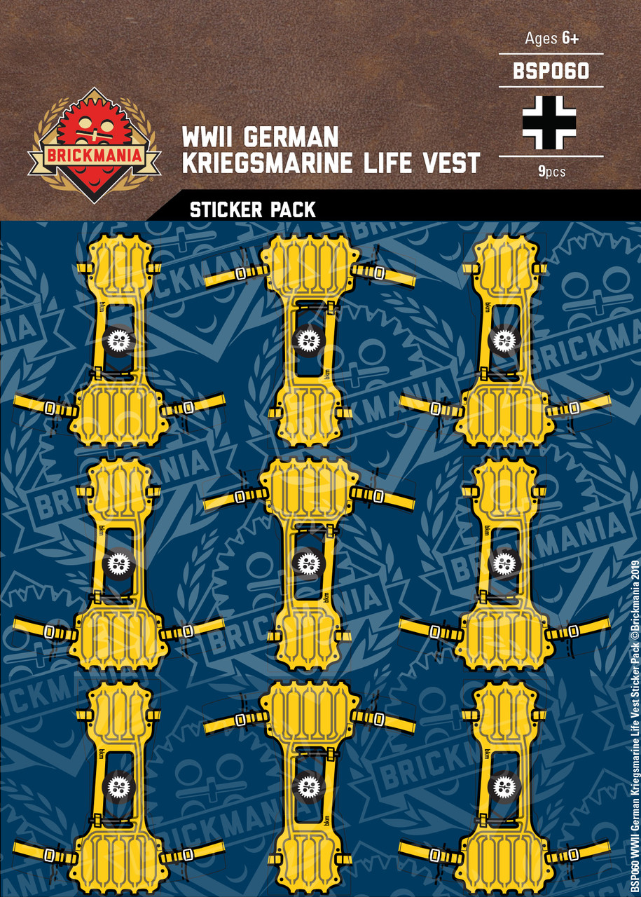 WWII German Kriegsmarine Life Vest - Sticker Pack