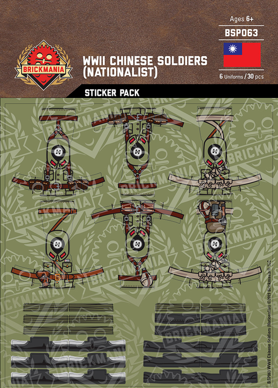 WWII Chinese Soldiers Nationalist - Sticker Pack