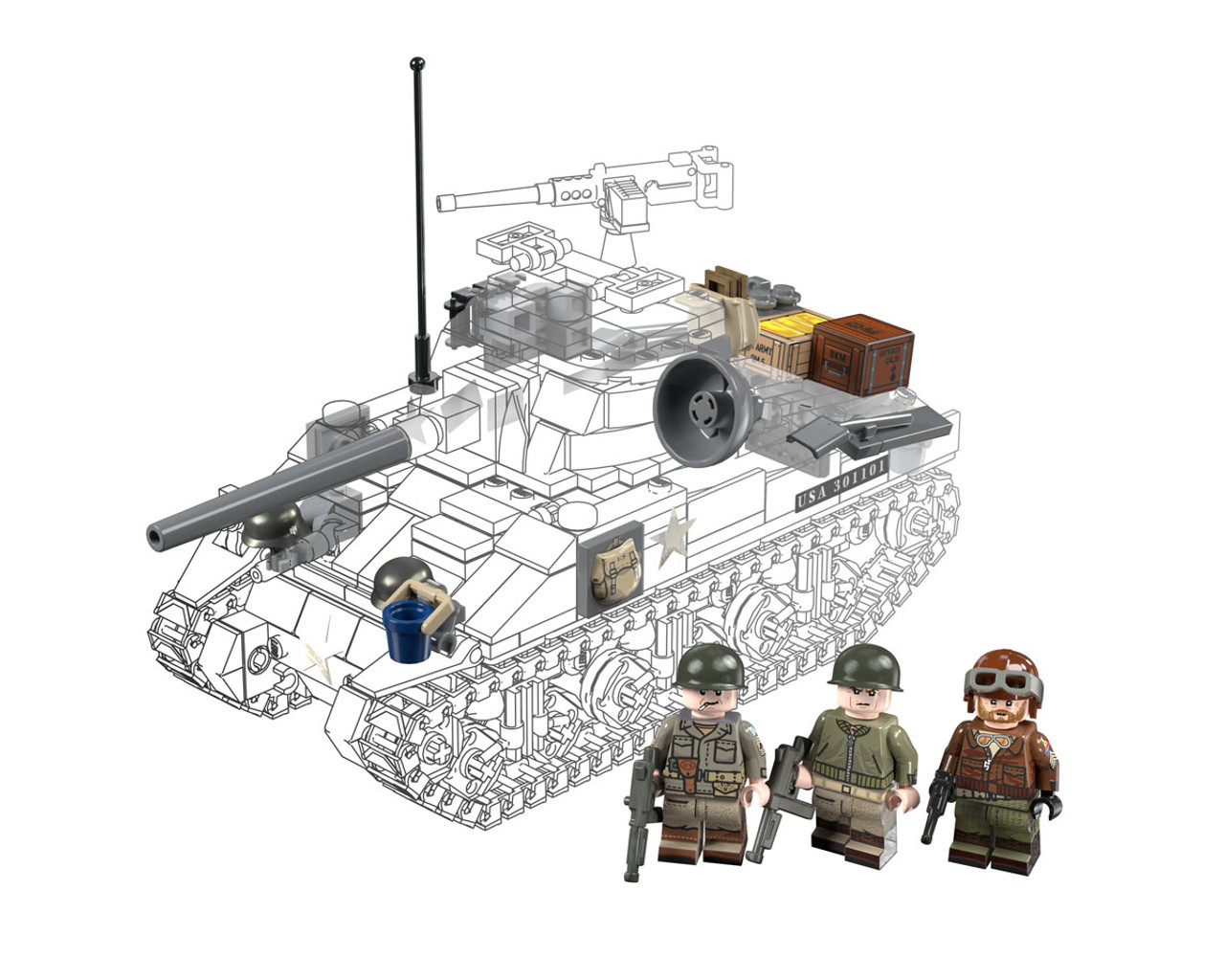 Oddball Add-On Pack - For M4 Sherman (BKM2184)