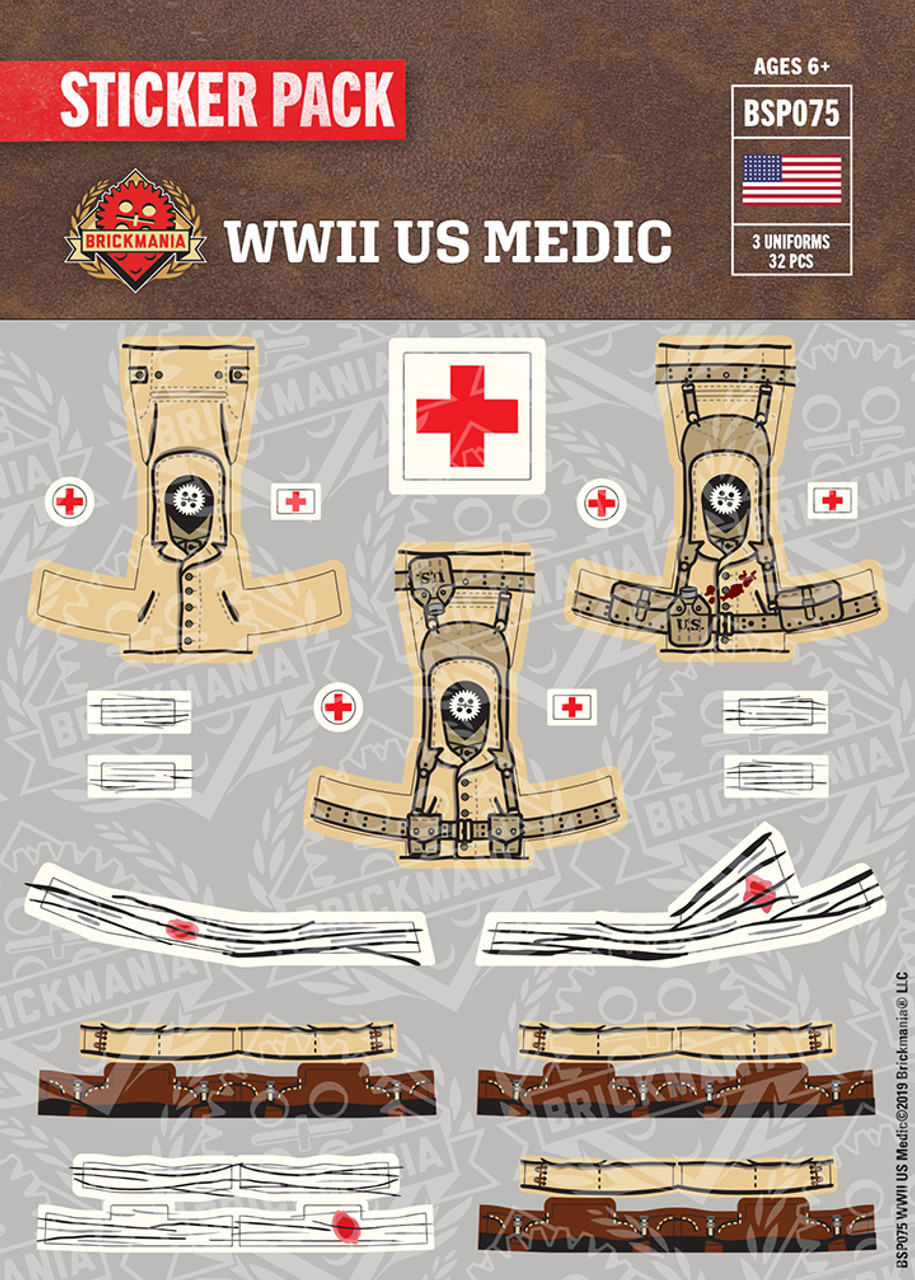 WWII US Medic - Sticker Pack