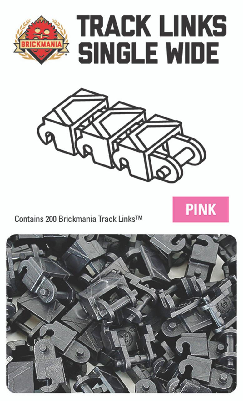 Brickmania Track Links™ - Chevron Single Wide - Dark Pink - x200