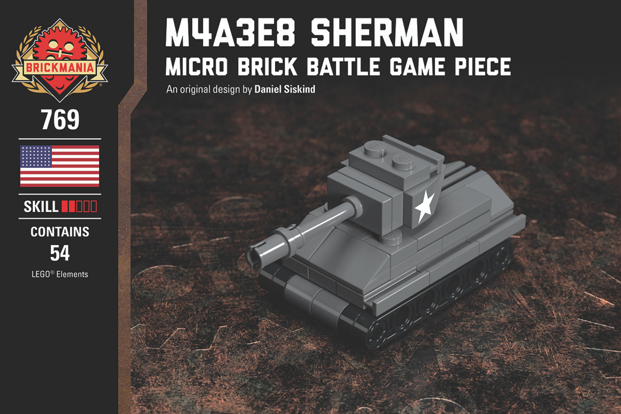 M4A3E8 Sherman - Micro Brick Battle Game Piece