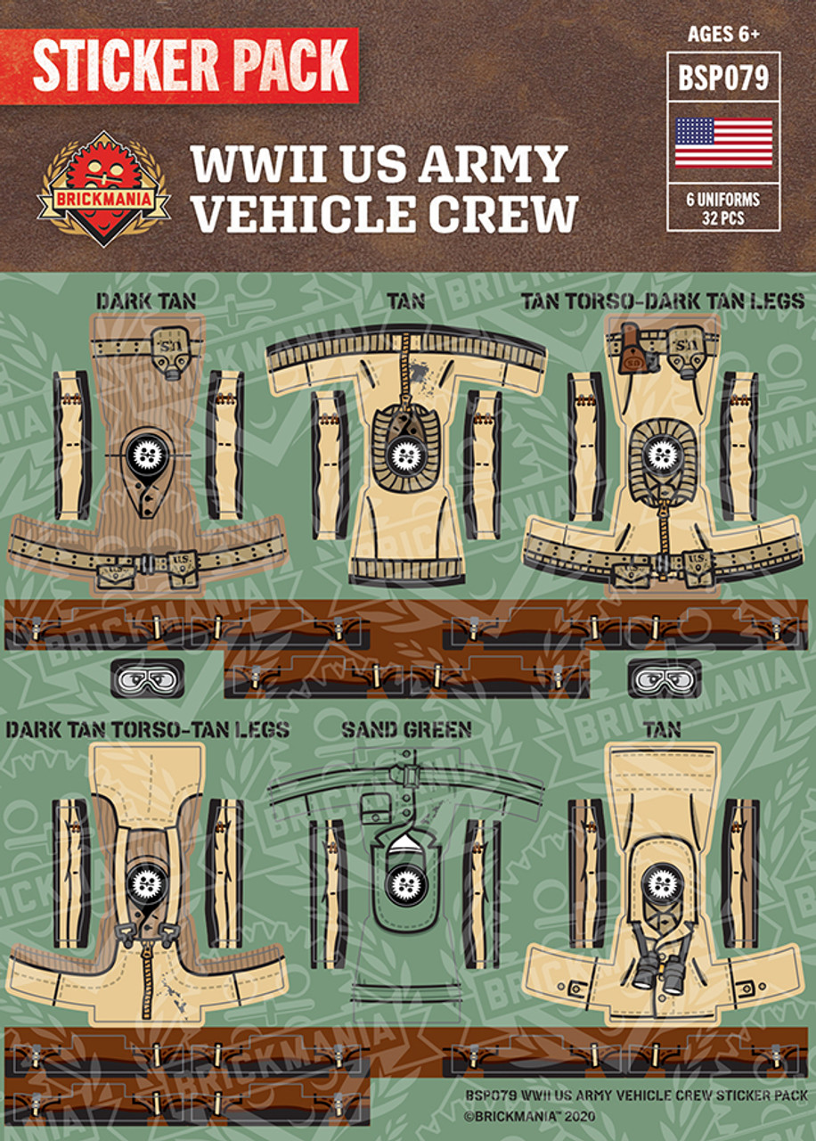 WWII US Army Vehicle Crew Sticker Pack