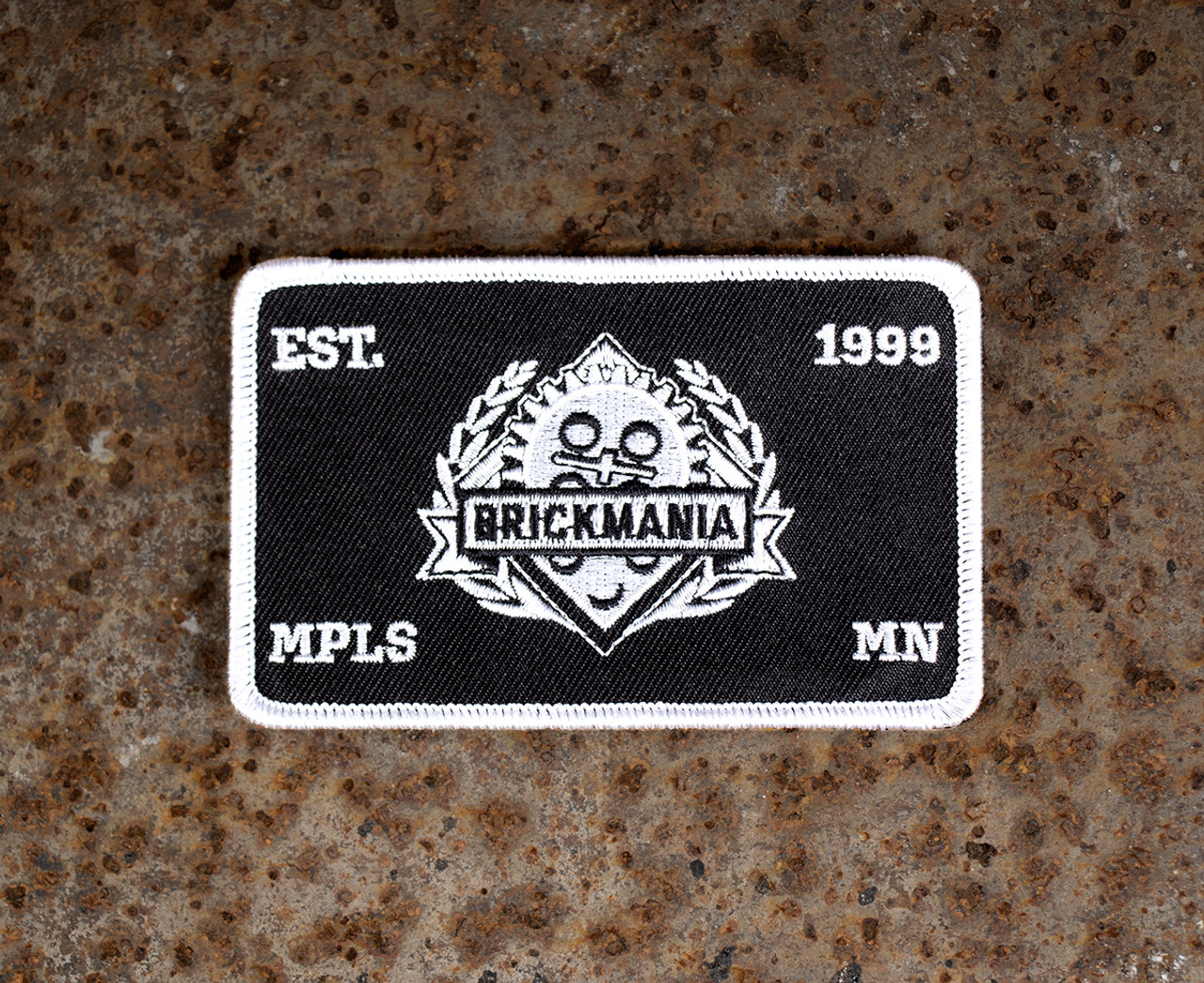 Brickmania Hook Fastener Tactical Patch - Black and White