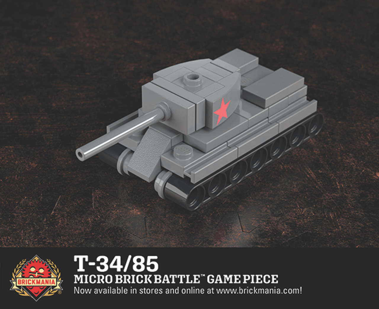 T-34/85 - Micro Brick Battle Game Piece