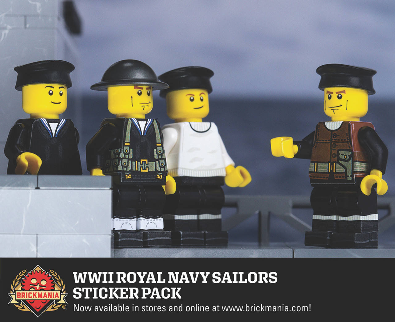 WWII Royal Navy Sailors Sticker Pack