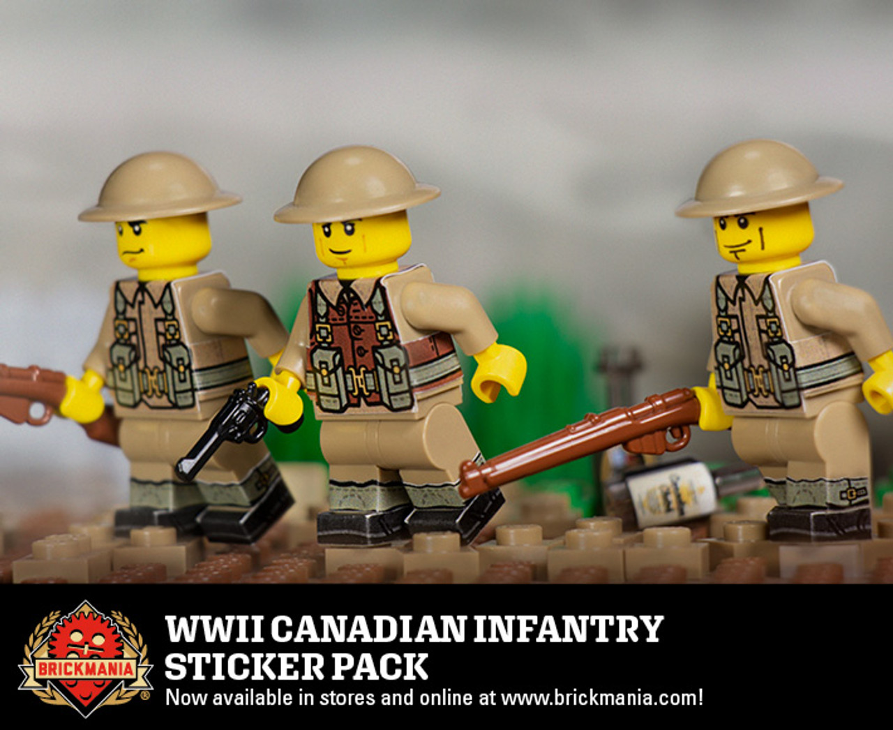 WWII Canadian Infantry Sticker Pack