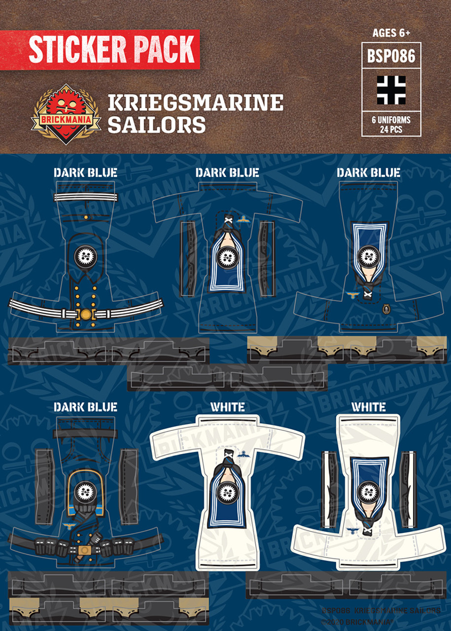 WWII Kriegsmarine Sailors Sticker Pack