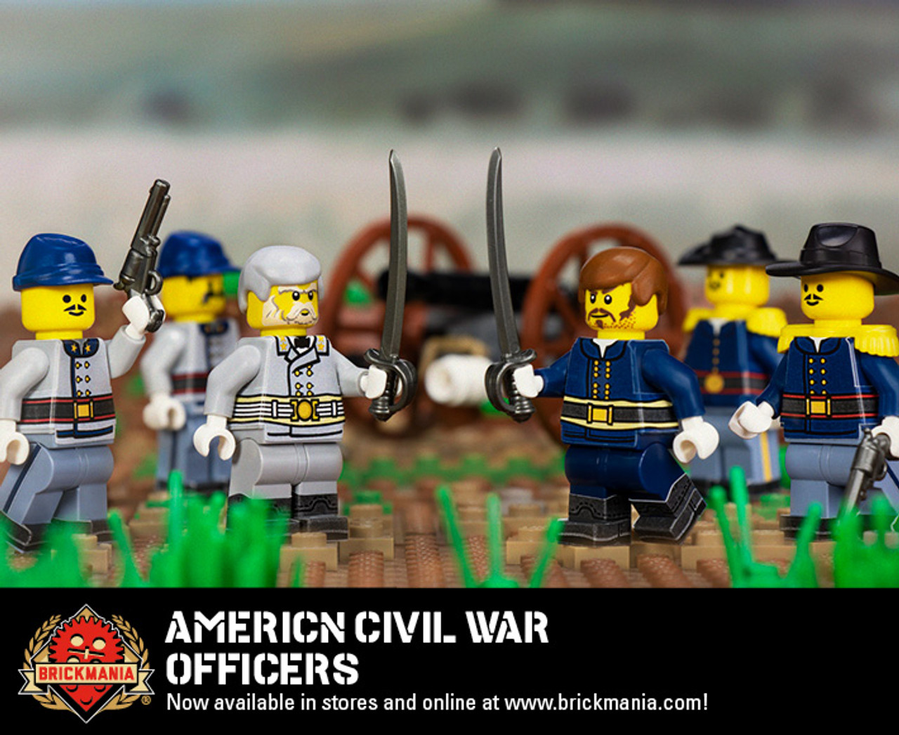 American Civil War Officers Sticker Pack