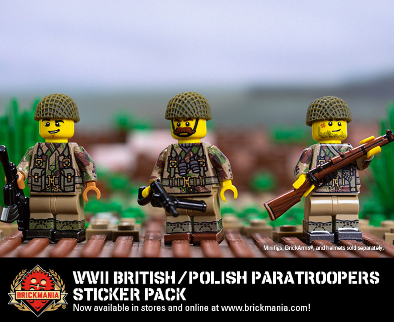 WWII British / Polish Paratroopers - Sticker Pack