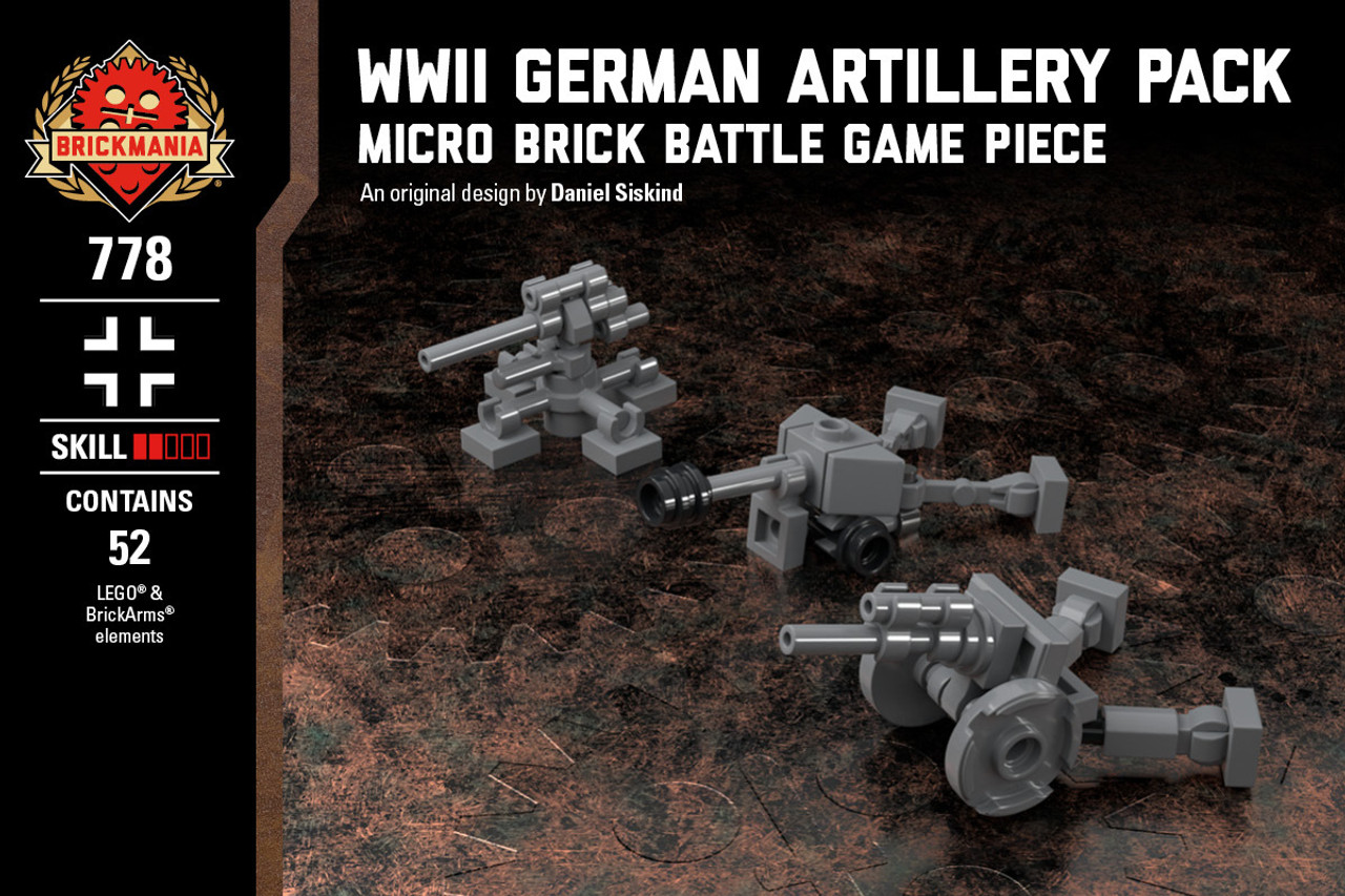 WWII German Artillery Pack - LeFH 105mm Howitzer, Pak 40 75mm Anti-Tank Gun, & Flak 36 88mm Gun