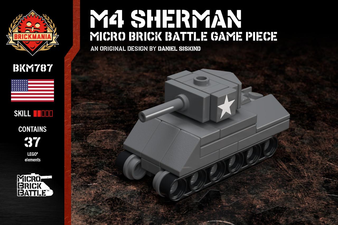 M4 Sherman - Micro Brick Battle Game Piece