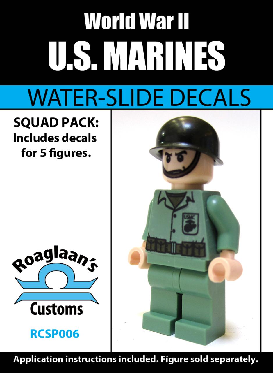World War II US Marines Squad Pack - Water-Slide Decals