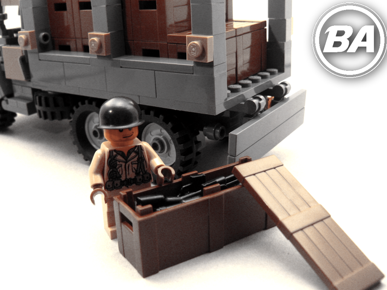 BA Crates stacked in a Brickmania CCKW!