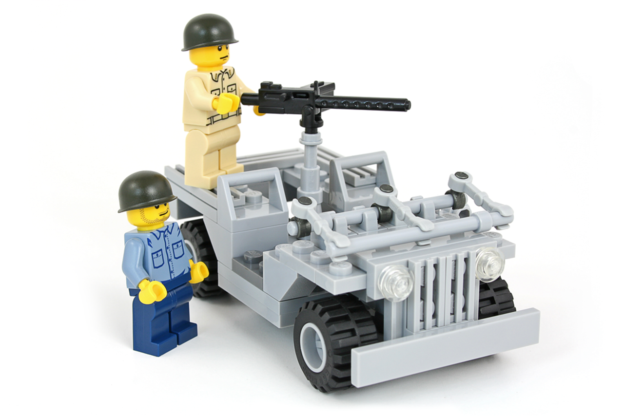 WWII Jeep with 2 US Navy Minifigs Battle Pack