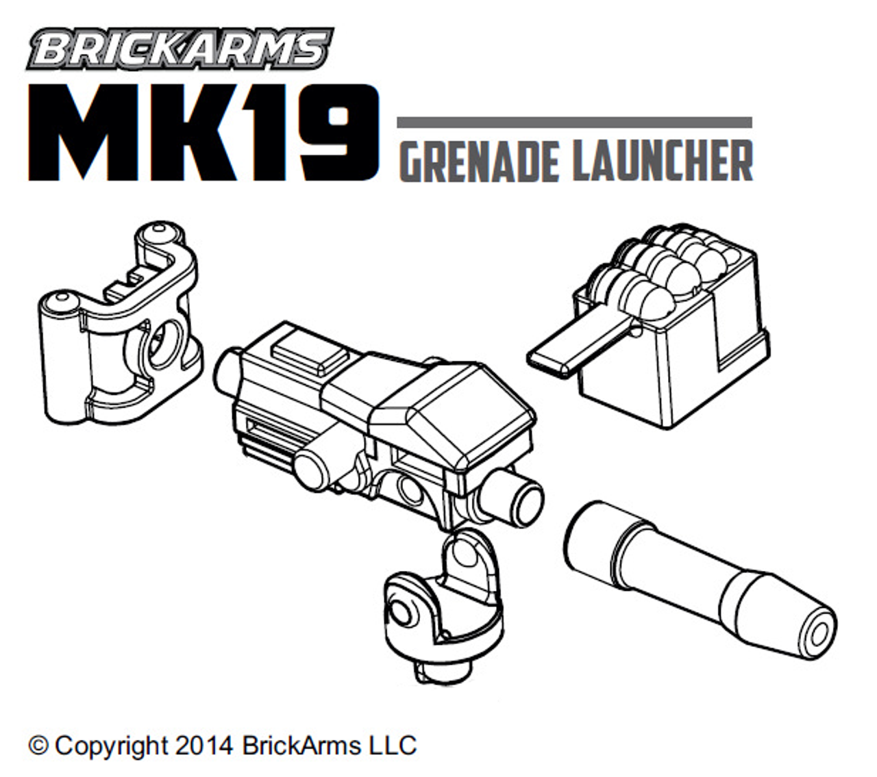 BrickArms Mk19 Grenade Launcher NO TRIPOD