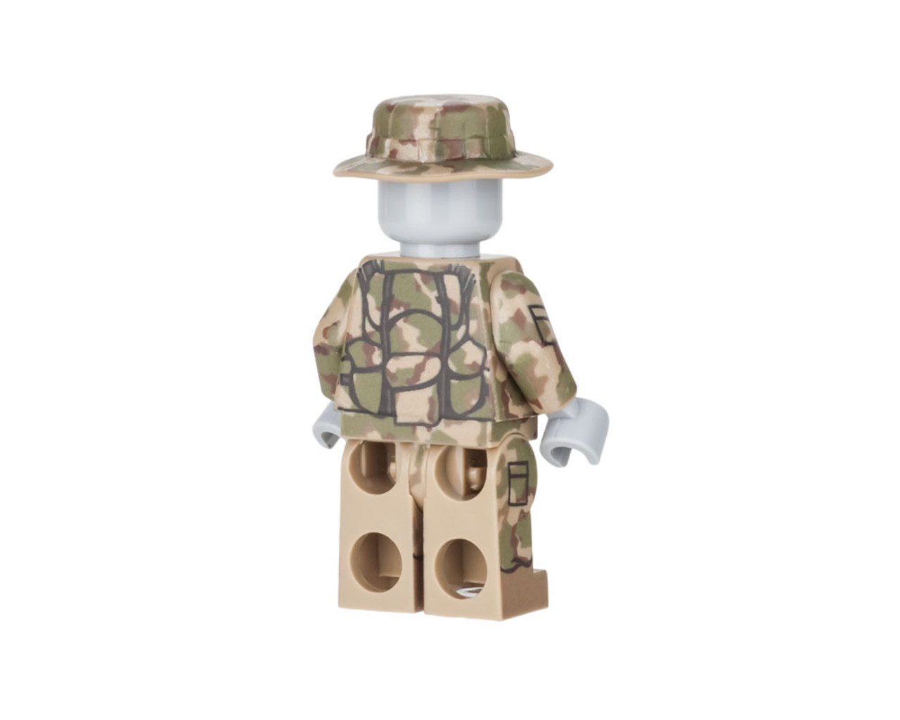 Woodland Camo Mercenary Complete Minifig Set - Water-Slide Decals