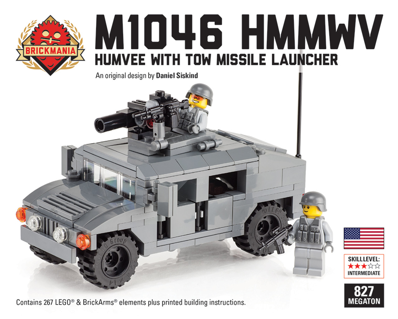 """M1046 HMMWV """"Humvee"""" with TOW Launcher + Two Figures"""