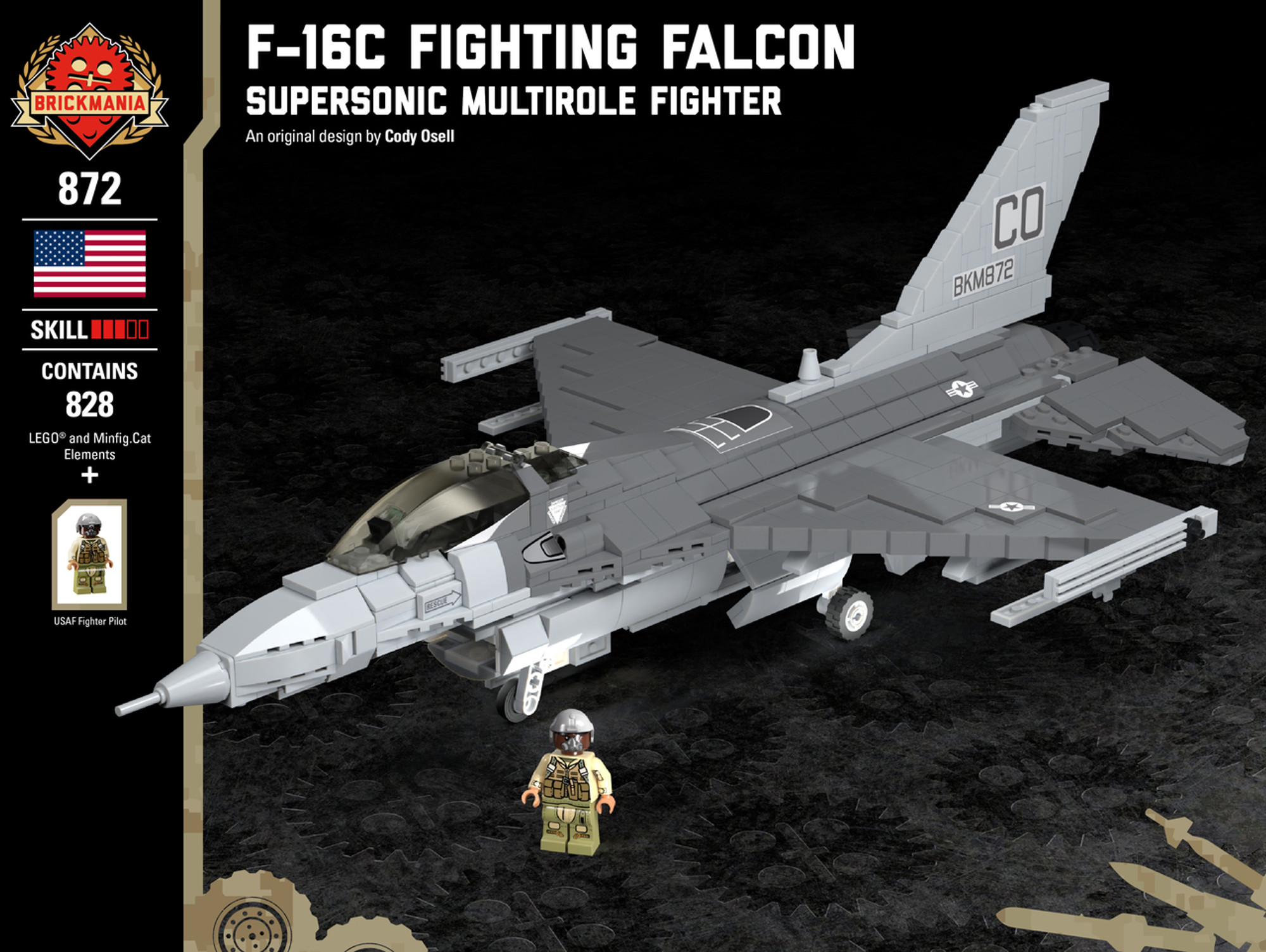 F 16c Fighting Falcon Supersonic Multirole Fighter Brickmania Toys Let's apply these steps to the hex number (4fa)16. f 16c fighting falcon supersonic multirole fighter