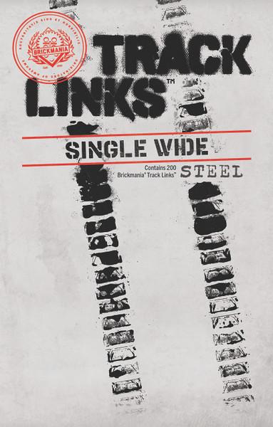Brickmania Track Links™ V2 - Chevron Single Wide - Steel - x200