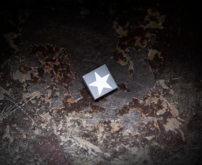 1x1 Allied Star Tile - Dark Gray