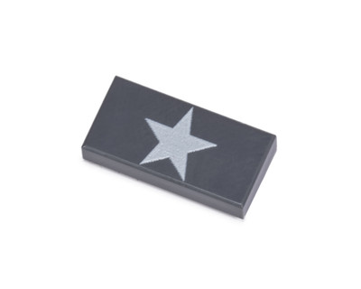 1x2 Allied Star Tile - Dark Gray