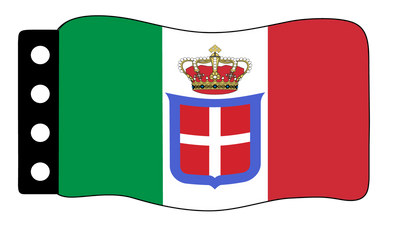 Flag - Italy (World War Naval Ensign)