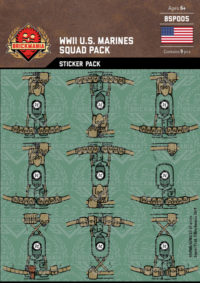 WWII US Marines - Squad Pack - Sticker Pack