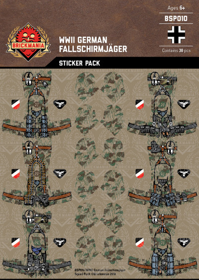 WWII German Fallschirmjäger - Squad Pack - Stickers
