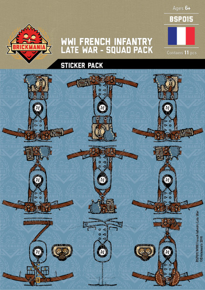 WWI French Infantry (Late War) - Squad Pack - Stickers