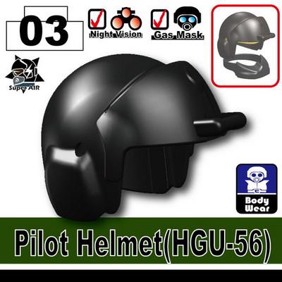 Minifig.Cat Pilot Helmet (HGU-56)