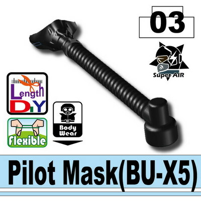 Minifig.Cat Pilot Mask (BU-X5)