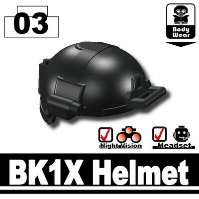 Minifig.Cat Tactical Fast Helmet (BK1X)