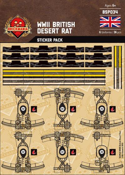 WWII British Desert Rat Sticker Pack