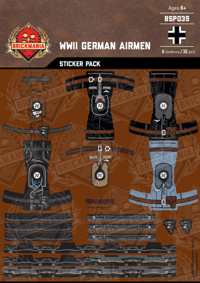 WWII German Airmen - Sticker Pack