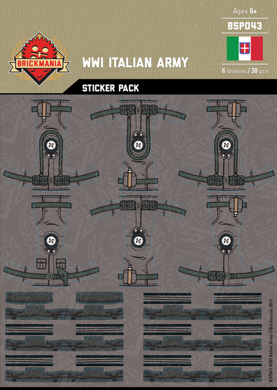 WWI Italian Army - Sticker Pack
