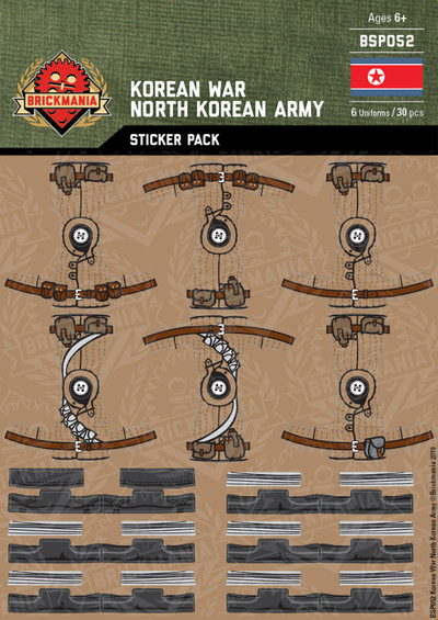 Korean War North Korean Army - Sticker Pack