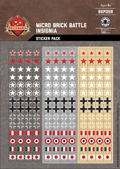Micro Brick Battle Insignia - Sticker Pack