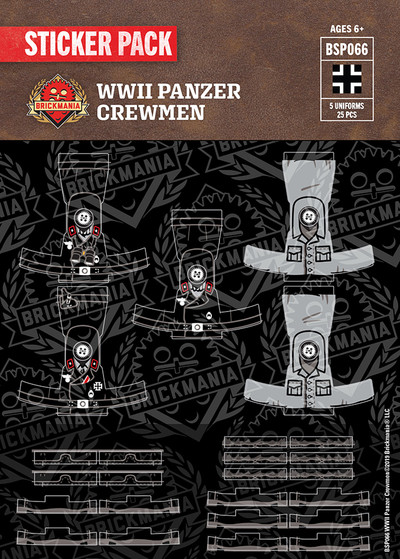 WWII Panzer Crewman - Sticker Pack