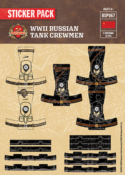 WWII Russian Tank Crewmen - Sticker Pack