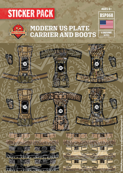 Modern US Plate Carrier and Boots - Sticker Pack