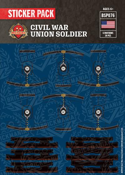 Civil War Union Solider Sticker Pack