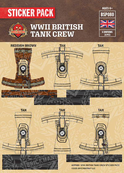 WWII British Tank Crew Sticker Pack