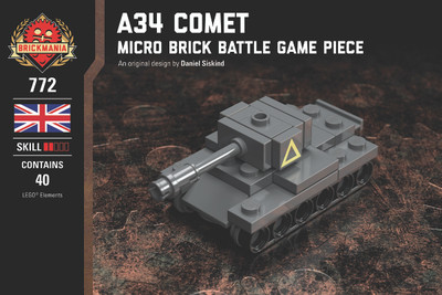 A34 Comet - Micro Brick Battle Game Piece