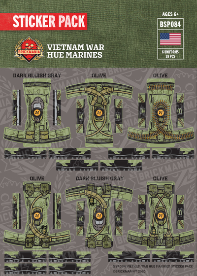 Vietnam War Hue Marines Sticker Pack