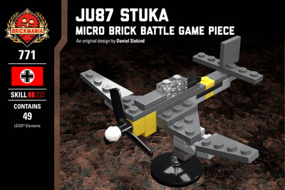 Ju 87 Stuka - Micro Brick Battle Game Piece